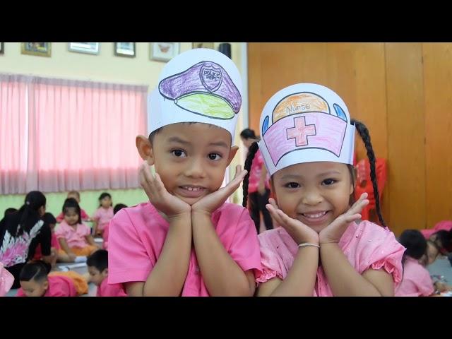 """Jobs fun"" learning activity @ Banpru Municipality   child development center 2 📚💡 present"