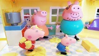 PEPPA PIG Italiano - Mamma Pig brucia il pranzo, ma arrivano Paw Patrol Marshall e Sam il Pompiere