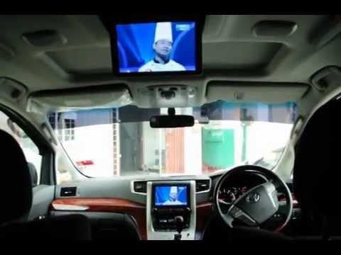 Toyota Vellfire - On board Satellite TV (Astro On The Move, SELFSAT)