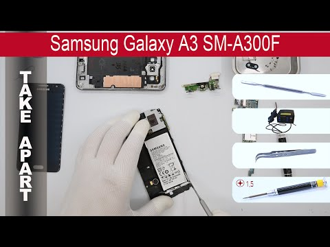 How to disassemble 📱 Samsung Galaxy A3 A300, Take Apart, Tutorial