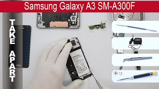 How to disassemble Samsung Galaxy A3 A300F, Take Apart, Tutorial(How to disassemble Samsung Galaxy A3 A300F by himself. Disassembly (take apart) and repair smartphone Samsung A300F at home with a minimal set of ..., 2015-05-29T02:31:08.000Z)