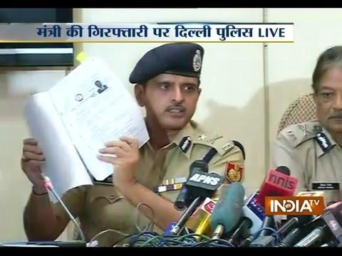 Fake Degree Dow: Police Arrests Delhi Law Minister Jitender Singh Tomar | India Tv