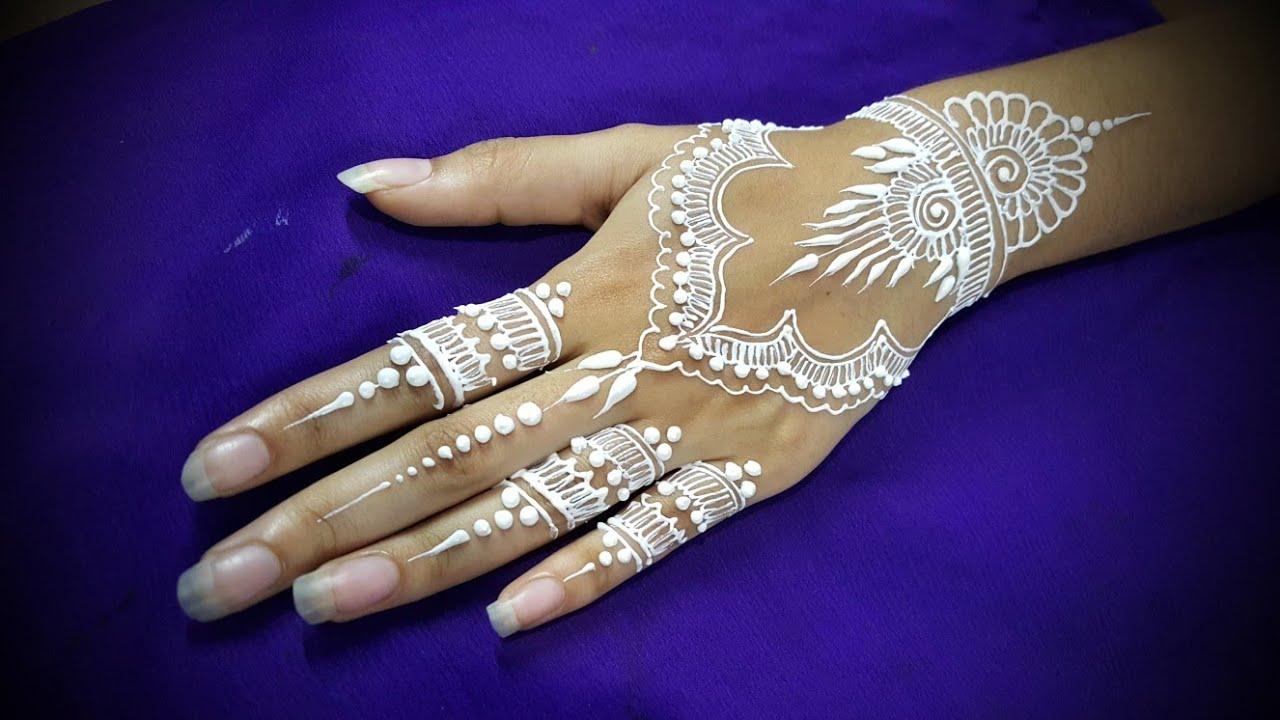 DIY How To Apply White Henna/ Body Paint Temporary Tattoo