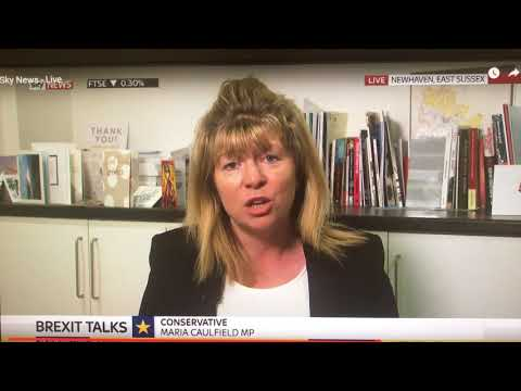 Maria Caulfield MP discusses Brexit on Sky News