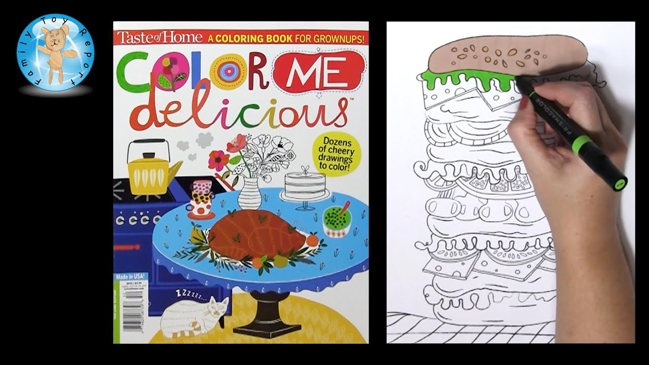 Coloring book for me full - Taste Of Home Color Me Delicious Adult Coloring Book Sandwich Family Toy Report Youtube