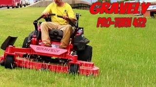 Gravely ProTurn 472, First Look Mowing Tall Grass
