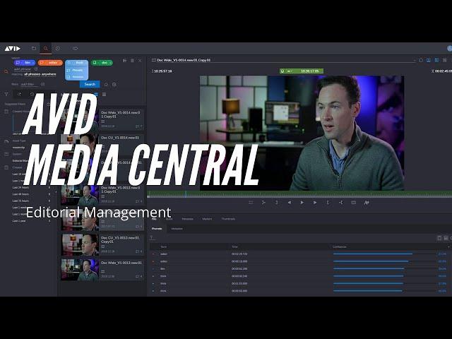 Avid - MediaCentral - Editorial Management