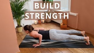 Yoga Practice for Arm and Shoulder STRENGTH | How to CHATURANGA