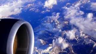 Flight Spotter Full HD 1920p  Flying high over The Alps  Highest Mountain Range in Europe