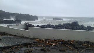 Mau tempo nos Açores - A força da natureza...