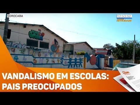 Vandalismo em escolas: pais preocupados - TV SOROCABA/SBT