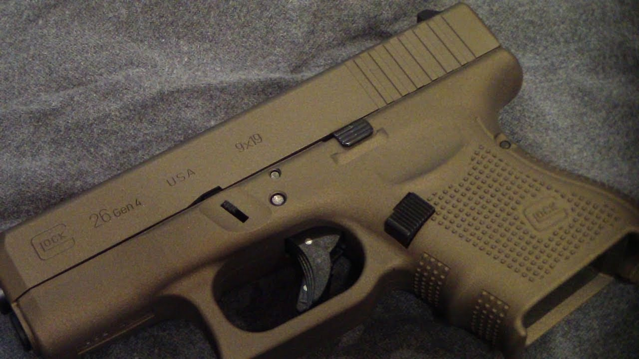 Glock 26 Gen 4 In Burnt Bronze Batjac Jw Youtube
