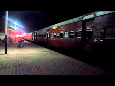 Cachar Express Departing Lumding Junction.