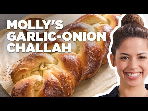 Molly Yeh Makes Garlic and Onion Challah Bread   Food Network
