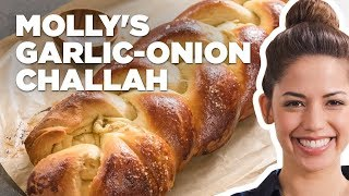Molly Yeh Makes Garlic and Onion Challah Bread | Food Network