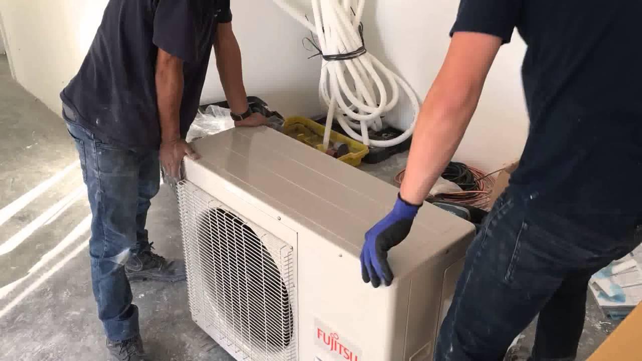 908d13447 Ar condicionado Multsplit Fujitsu - Instalação completa em Hit Alphaville -  YouTube