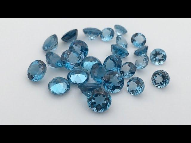 Natural Topaz London Blue Round Shape Natural cut Gemstones Supplier