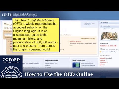 Oxford English Dictionary Online: A Short Guide