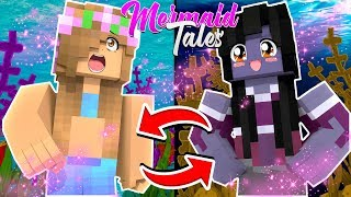Mermaid Tales : LITTLE KELLY AND EVIL SIREN BODY SWAP! [5]   Minecraft
