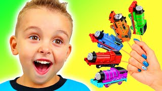 Fun Pretend Play with toy train | Are you sleeping brother John