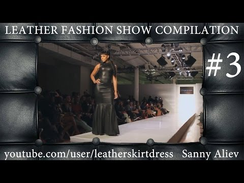 Fall leather skirt fashion show runway compilation (part 3)
