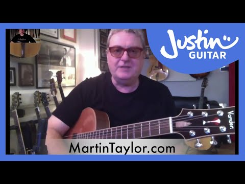 Martin Taylor chatting about Gypsy Jazz Guitar with Justin Sandercoe