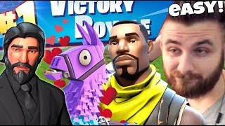 IRAPHAHELL MAKES WIN'S FIRST ON FORTNITE WITH SKIN DEFAULT!
