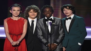 Stranger Things Kids presenting Award @ SAG Awards