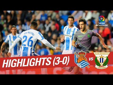 Highlights Real Sociedad vs CD Leganes (3-0)