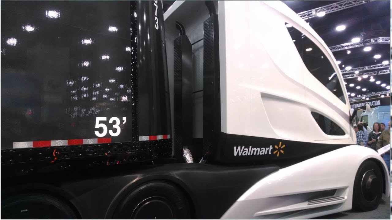 walmart 39 s futuristic truck revealed at the mid america trucking show hydro chem systems youtube. Black Bedroom Furniture Sets. Home Design Ideas
