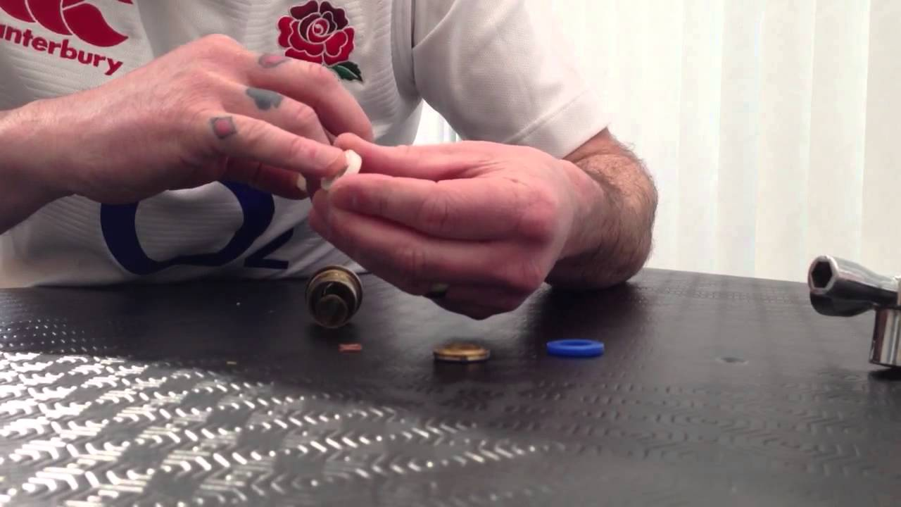 How to dissemble a ceramic tap valve and stop a dripping tap - YouTube
