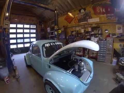 73 VW Super-Beetle Hill-Climb Car, Big E's Garage