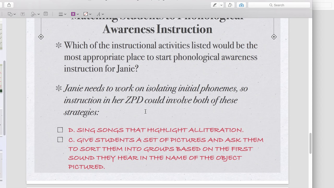 Phonological Awareness Developmental Sequence Youtube
