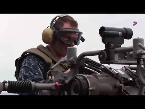 Amazing Naval Guns - Sailors Firing the M242, in Action | P WAR