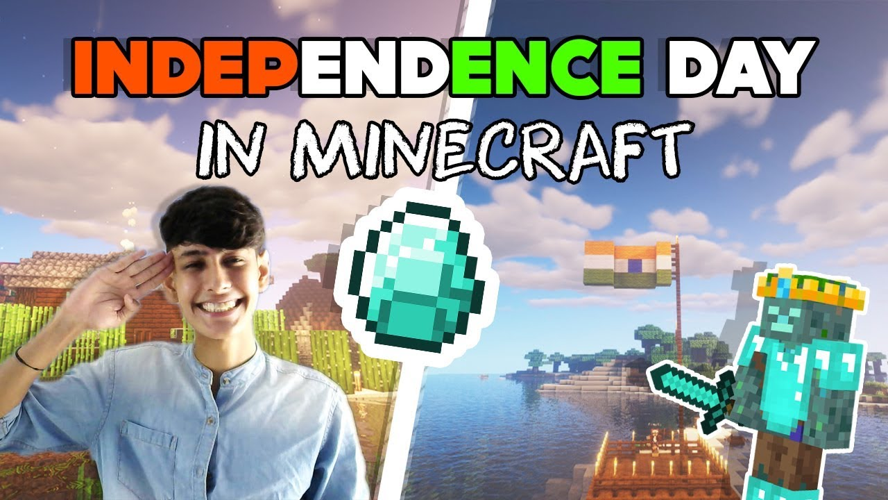 Minecraft ME Indian Independence day Or raksha bandhan | Funny Minecraft Hindi android lets play #3