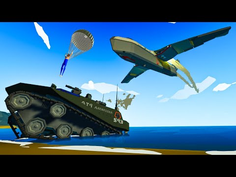 Craziest AMPHIBIOUS TANK Invasion You've Ever Seen In Stormworks Build And Rescue!