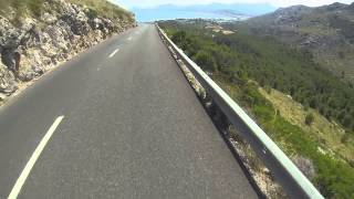 Gopro - Majorca cycling - descend from Formentor to Puerto Pollensa