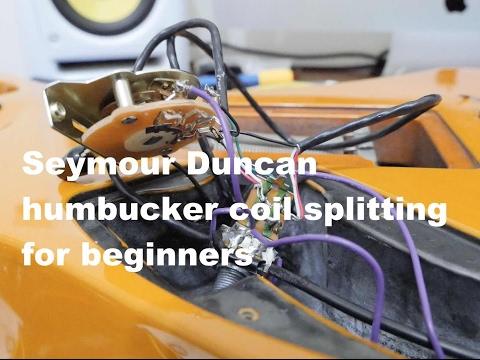 Seymour Duncan humbucker coil splitting wiring for beginners on