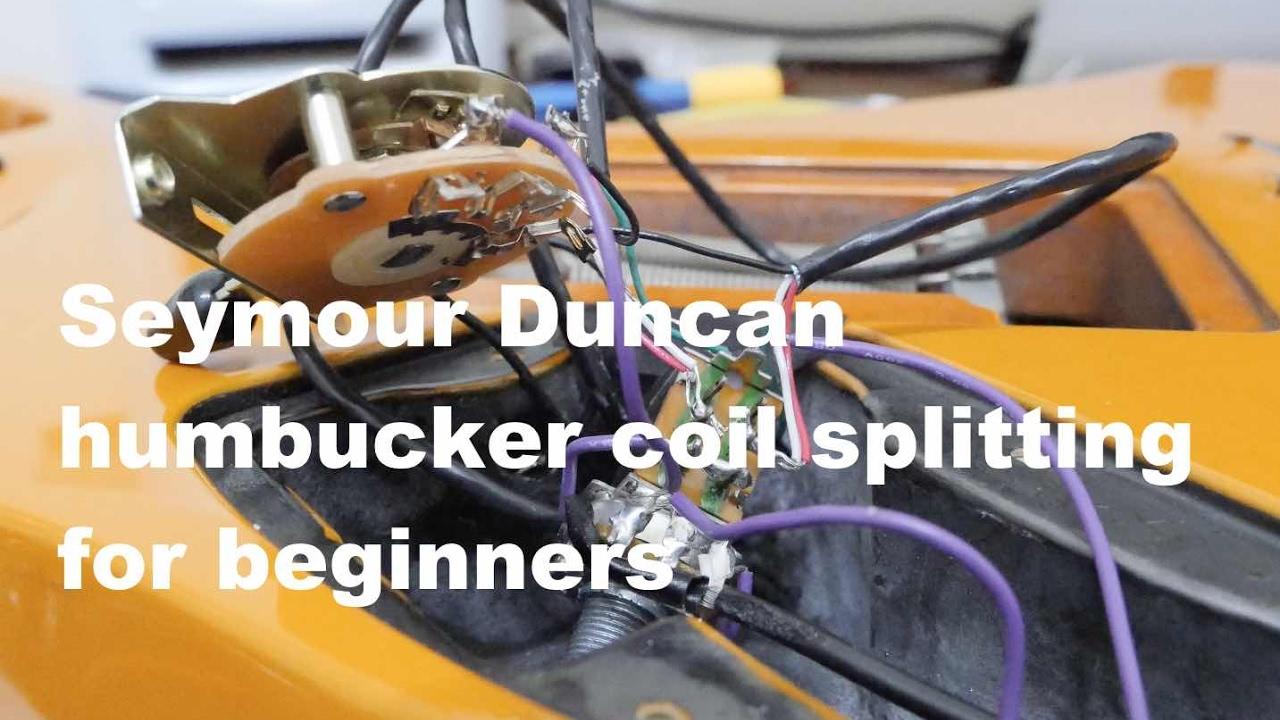 Seymour Duncan Humbucker Coil Splitting Wiring For