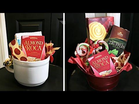 Dollar Store Christmas Gift Baskets    Inexpensive Christmas Gift Ideas