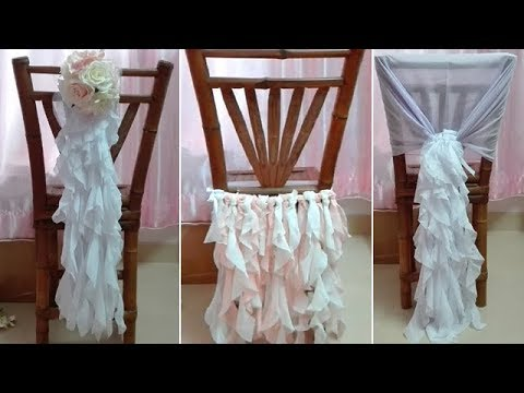 ruffle chair sashes stool office 3 tutorials for diy sash decoration with ruffled strands tutorial