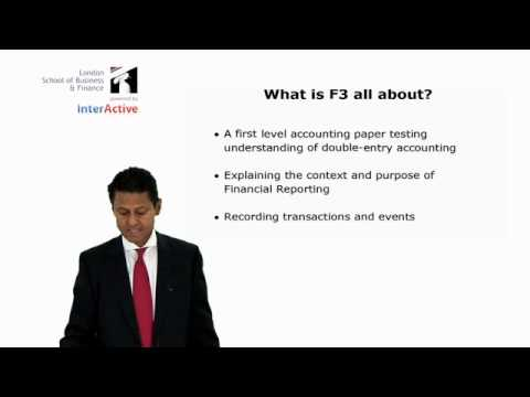 LSBF ACCA F3: Introduction to the Paper Part 1