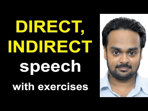 Direct, Indirect Speech (Narration) - Reported Speech - English Grammar - with Exercises & Quiz