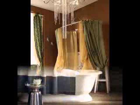 Bathroom shower curtain design ideas