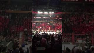 WWE Raw Buffalo Goldberg In Ring! 11/15/16