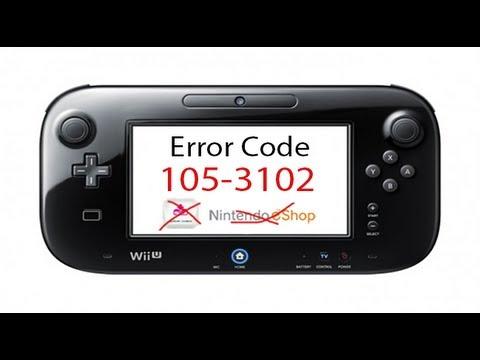 Wii U Error 105-3102 USA (No Update Or EShop!)
