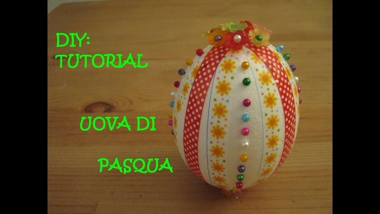 uova di pasqua in polistirolo || mami crea - youtube