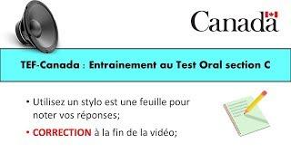 TEF CANADA : Préparation 3 au Test de Compréhension section C
