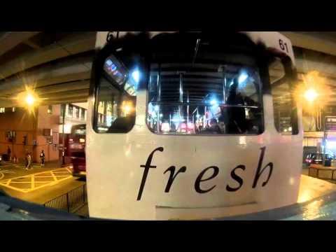 Hong Kong Tramway - Night Ride - SJCam