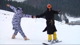 На открытии зимнего сезона в Буковеле туристы оделись в костюмы супергероев